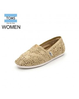 Toms Crochet Metallic gold